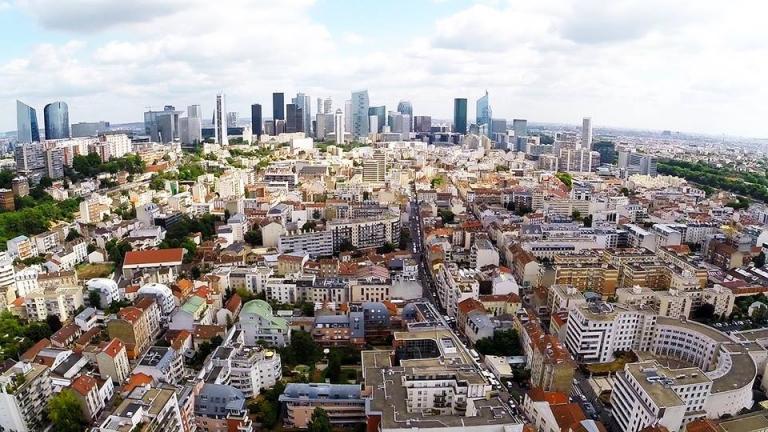 Photo aérienne de Paris, la Défense vue du ciel