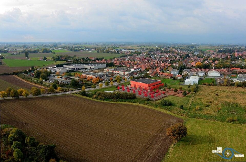 Photo aérienne de Quesnoy-sur-Deûle photographiée par un drone
