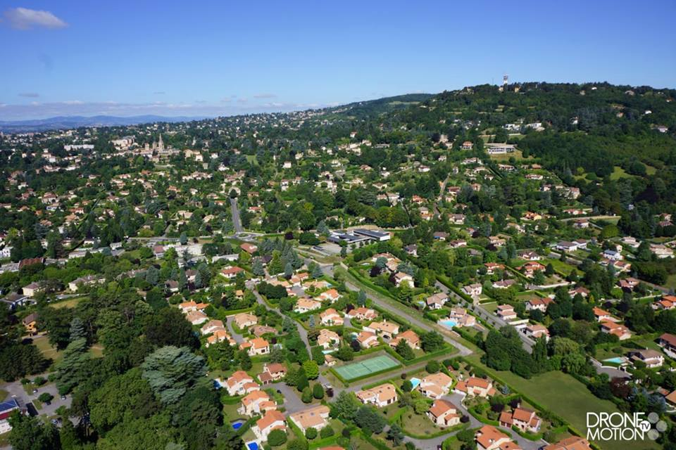 Photo aérienne de St Cyr au Mont d'Or par drone