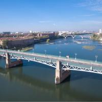 Photo aérienne de Toulouse photographie par un drone