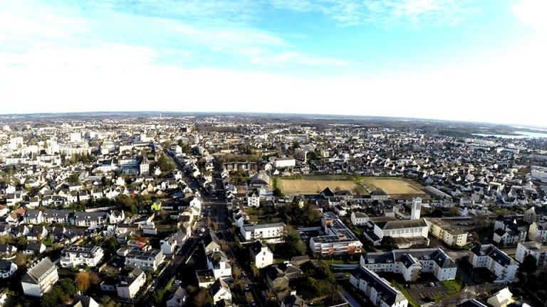 Photo aérienne de Vannes en Bretagne