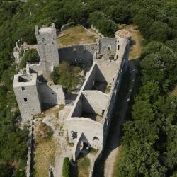 Photo aérienne du Château de Tornac Gard et la région Languedoc-Roussillon