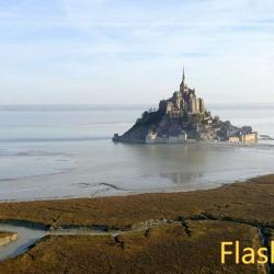 Photo aérienne du Mont Saint Michel en Normandie