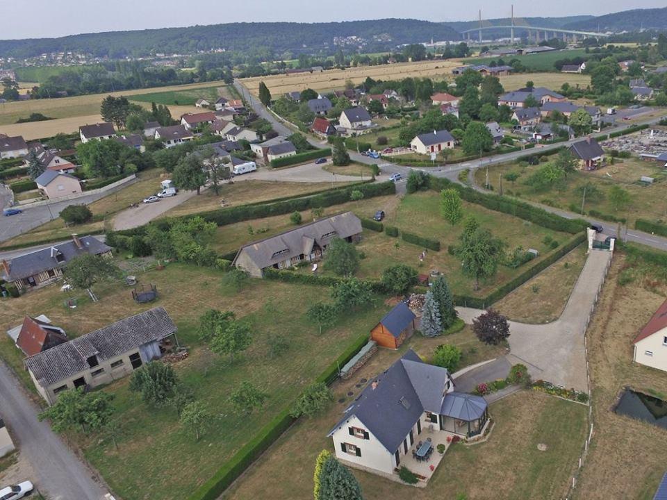Photo aérienne dans l'Eure en Normandie