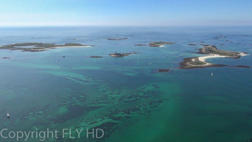 Photo aérienne par drone de l'archipel des Glénan