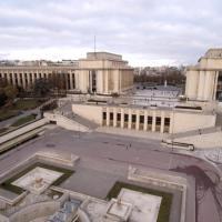 Photo aérienne par drone du Palais Chaillot au Trocadéro