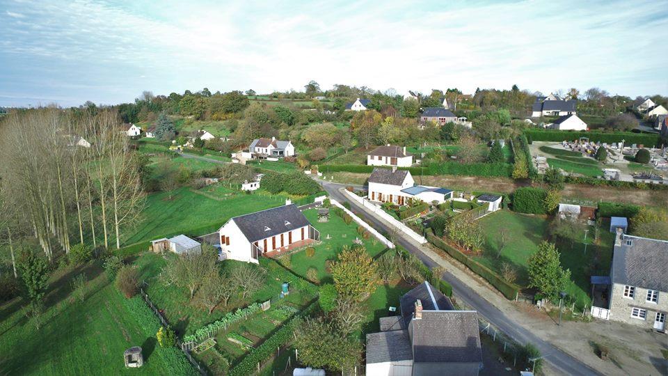 Photo aérienne Sainte-Suzanne-sur-Vire dans la Manche.