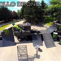 Photo aerienne saut de moto photographié par drone