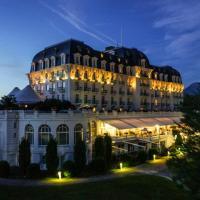 photo de l'Imperial Palace d'Annecy, vue nocturne