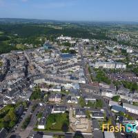 Photo de Vire en Normandie en prise de vue aérienne par drone