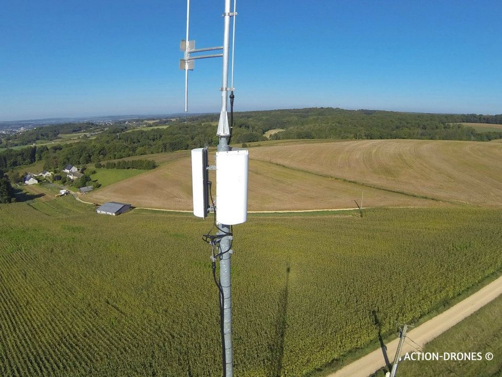 Photo inspection antenne par drone en vue aérienne
