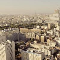 Photo Paris la tour Eiffel et la tour Montparnasse