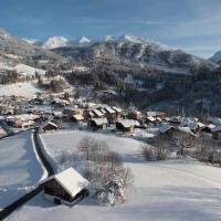photograhie de St Jean de Sixt par un drone en Haute Savoie