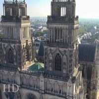 Photographie aérienne d'Orléans réalisée par un drone