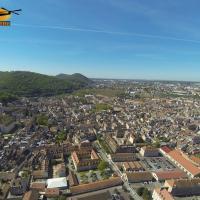 Photographie aerienne de Besançon par un drone
