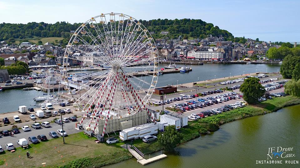 Photographie aérienne de Honfleur en Normandie