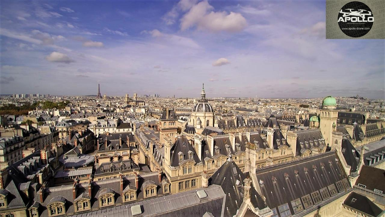 Photographie aérienne de l'université de la Sorbonne