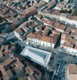 Photographie aérienne de la ville de Ganges, dans l'Hérault en Occitanie