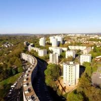 Photographie aérienne de la ville de Limoges par drone