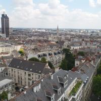 Photographie aérienne de la ville de Nantes par drone