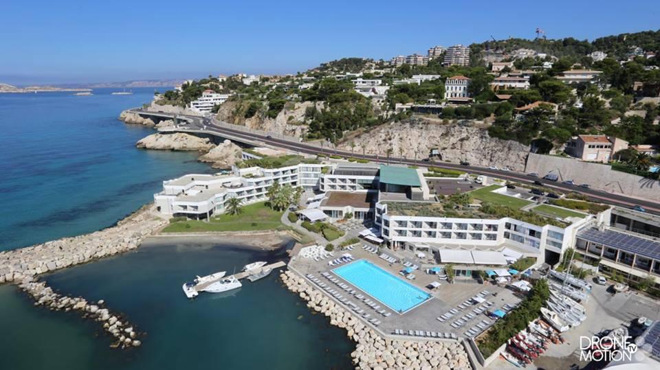 Photographie aérienne de Pullman Palm Beach de Marseille