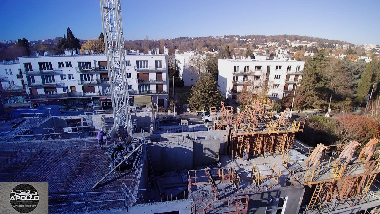 Photographie aérienne de suivi de chantier par drone