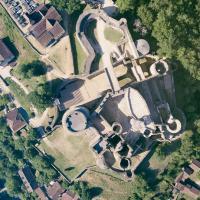 Photographie aérienne du Château de Bonaguil
