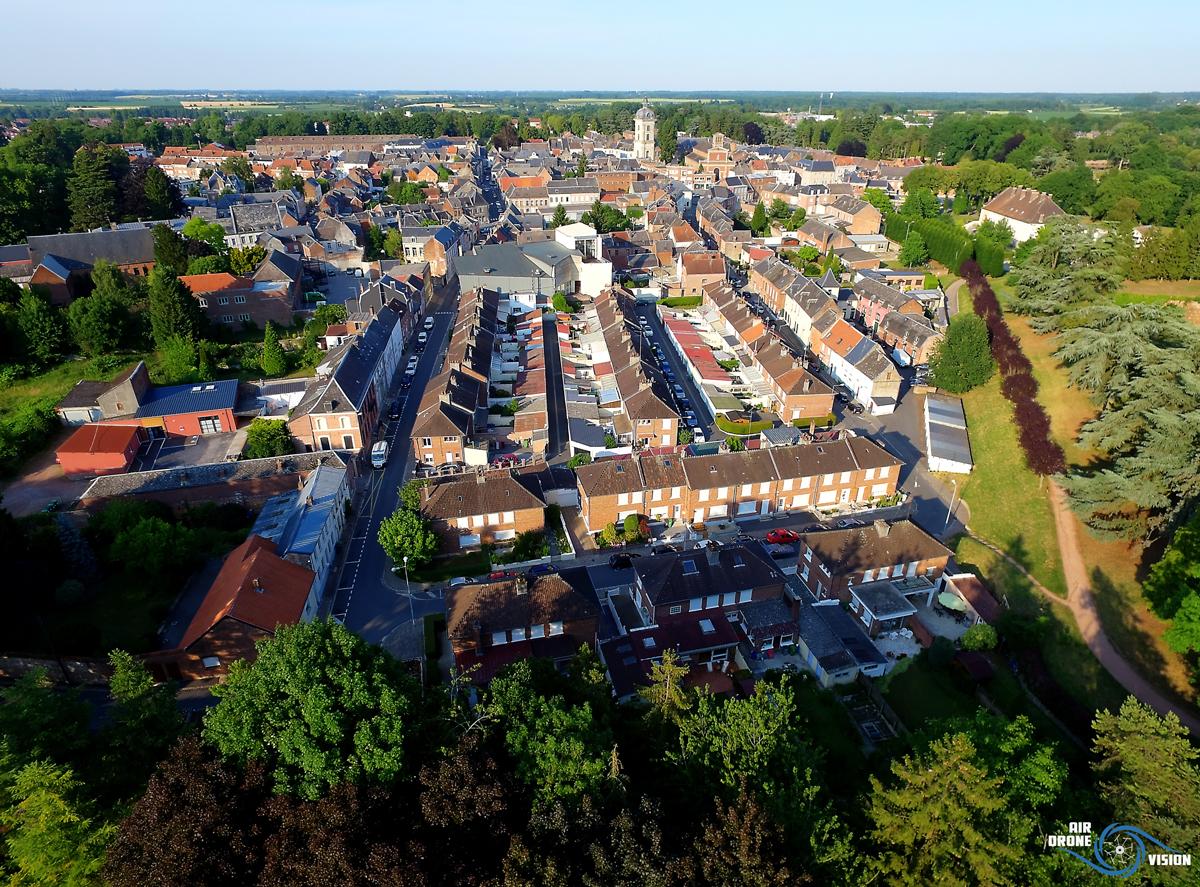 Photographie aérienne par drone de Comines les Hauts de France