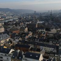 Photographie aérienne par drone de Fécamp en Normandie