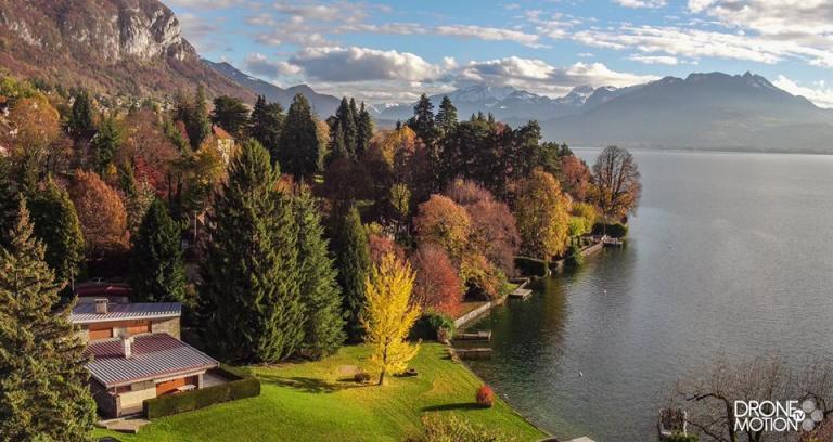 photographie d'automne, sur les bords du lac d'Annecy