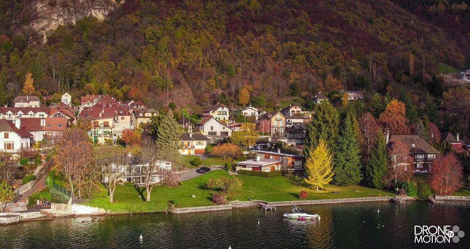 Photographie de Chavoires en automne, sur les bords du lac d'Annecy