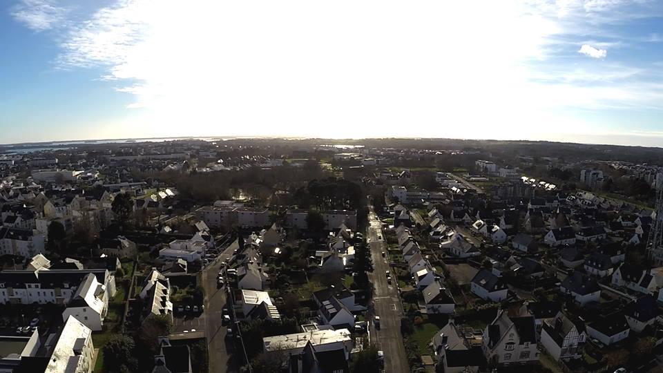 Photographie de Vannes en prise vue par drone
