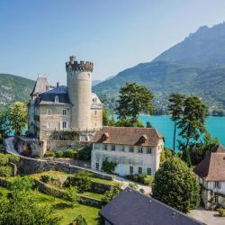 photographie du Chateau de Duingt sur le Lac d'Annecy