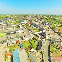 Picauville vue du ciel Normand par un drone