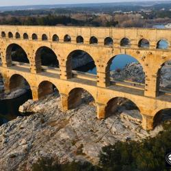 Pont du Gard en photo aérienne par drone