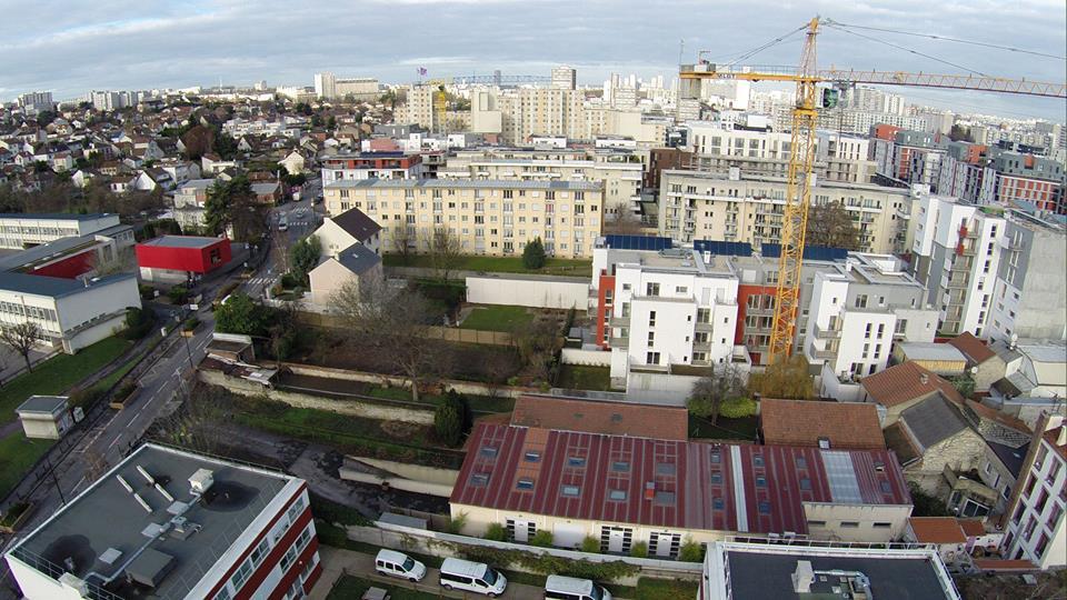 Photo aérienne de Vitry sur Seine en vue aérienne par drone