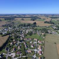 Photo aérienne d'Auberville la Campagne village de Normandie