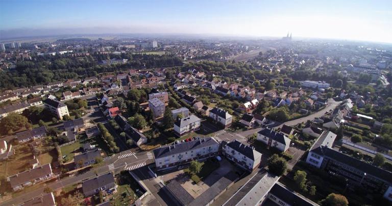 Photo aérienne de Chartres photographiée drone