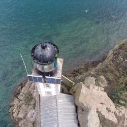 Prise de vue aérienne par drone du phare de l'île Louët, Finistère