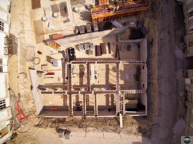 Prise de vue aérienne par drone pour suivi de chantier