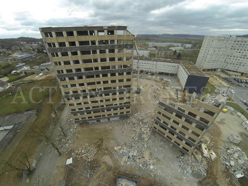 Prises de vue aérienne d'un chantier photographier par drone