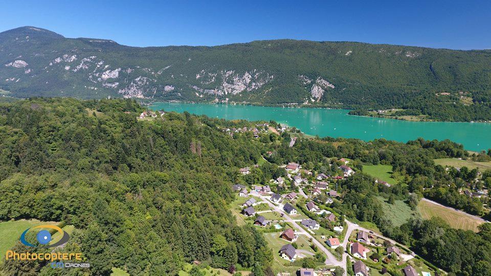 Paysage photographié par drone en Bourgogne-Franche-Comté