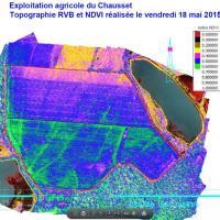 Images de type NDVI pour exploitation agricole ou viticole