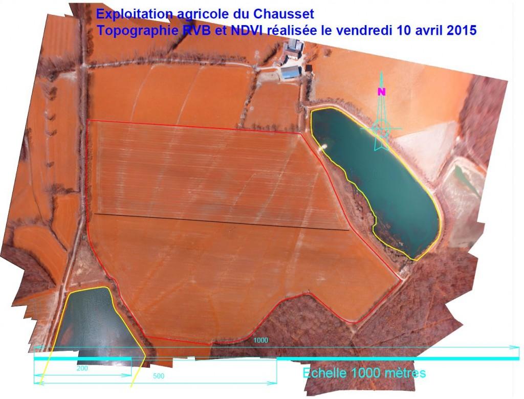 Réalisation d'une topographie agricole de type PRI-R par drone