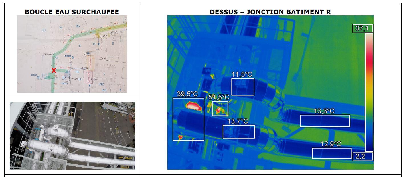 Recherche déperdition thermique par thermographie aérienne