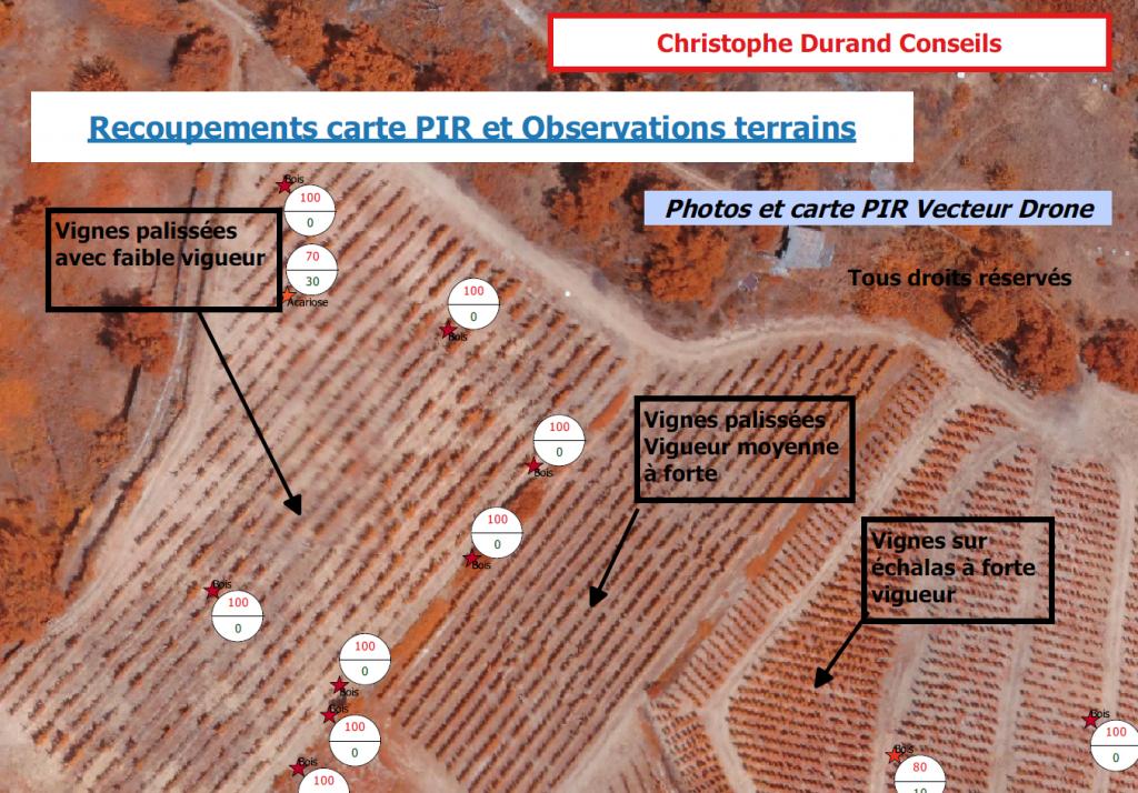 Recoupement carte PIR Observation par vue aérienne