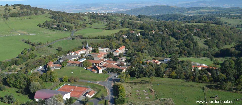 Saint Genès Champanelle, photo aérienne par drone