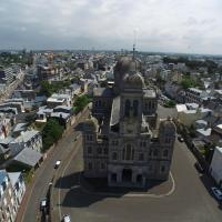 St Paul, Granville photographié par un drone dans la Manche
