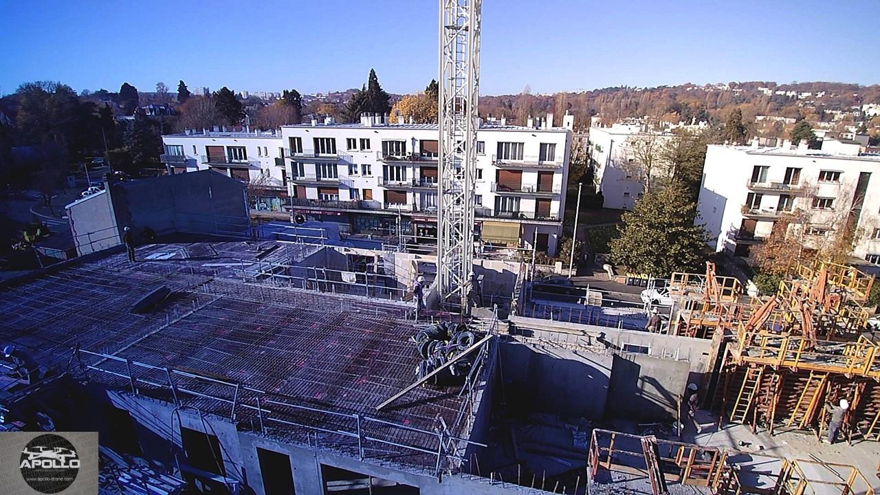 Photo de suivi de chantier en vue aérienne par drone