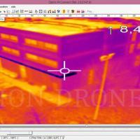 Thermographie aérienne par  image infrarouge prise d'un drone